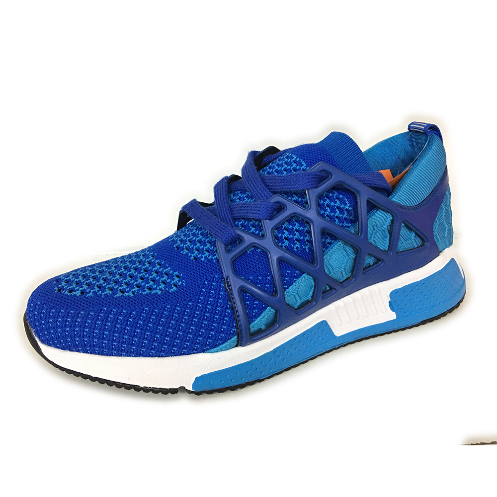Skin Friendly Breathable Weave Knitting Free Run Walking Sports Shoes