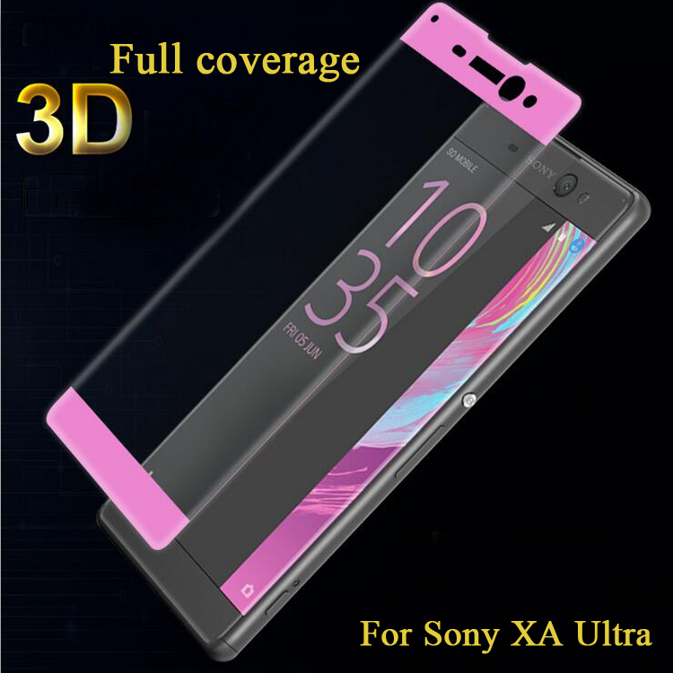 Hot selling Different Color Tempered Glass Screen Protector for Sony XA Ultra