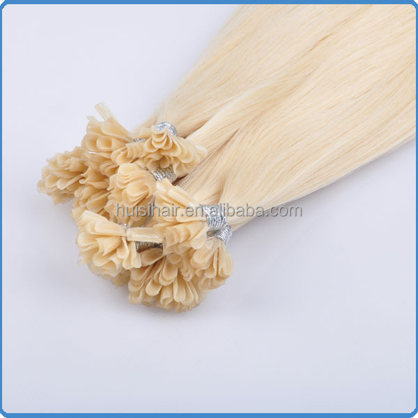 Qingdao huisihair factory long lasting time pre-bonded hair 100% remy new stock price u link hair