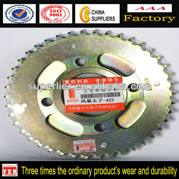 motorcycle sprocket for hot sale, Bajaj motorcycle forged sprocket with 1045#steel, customized motorcycle crown for sale