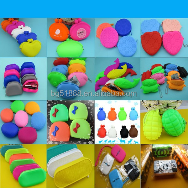 Bulk Wholesale Silicone Coin Purse Colorful Cheap Round Bulk Silicone Coin Purse For Ladies Rubber Purse