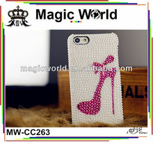 Low Luxury High Heels pearl rhinestone cellphone shell