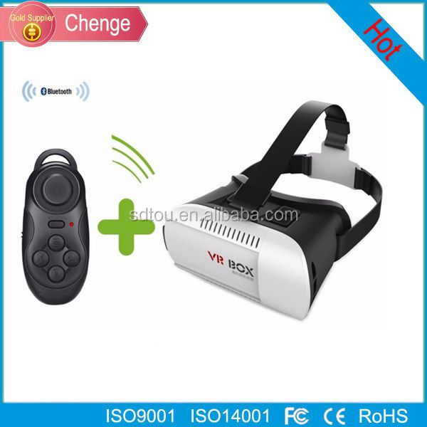 2016 New products portable 3D VR BOX 2.0 Virtual Reality 3D Glasses for blue film video open sex