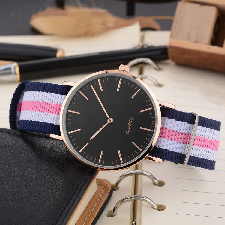 Minimalist Unisex Luxury Nylon Quartz Watch