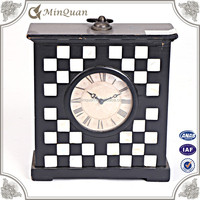 chinese square wall clock , retro wall clock dial factory