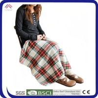 Checked Cotton Polyester Blanket Home Blanket