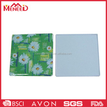 Square shape daisy print plastic melamine coaster for cup