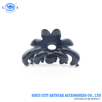 Hot sale black fashion flower hair claw 70 MM