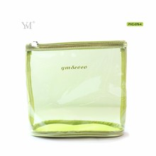 Wholesales waterproof fahinonable makeup bag pvc mesh without handle