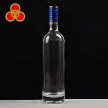 Custom screw cap empty glass liquor bottle 750ml engraving vodka bottle