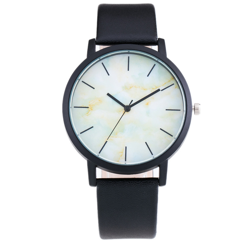 5102 New Design Cool Marble Printed Quartz Watches Men Leather Casual Wristwatch Male Clock luxury mens watch
