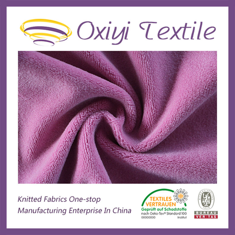 CVC organic cotton velour fabric