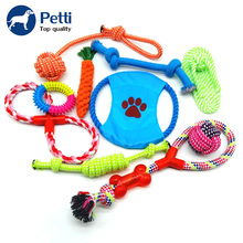 Colorful braided private label 10 pack gift set cotton dog rope toys