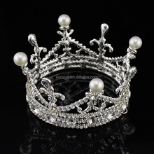 Crystal mini king tiara