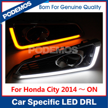 Car tuning led lights fog light fog lamp for Honda City 2015 with turn signal feature IP68 from PODEMOS
