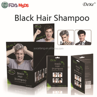 Private labeling for Cosmetic Companies Dexe black hair coloring shampoo