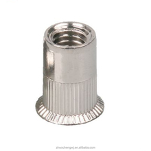 High quality stainless steel 304 316 Knurled flat head hexagon body m85 insert rivet nuts