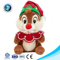 New christmas gift soft plush squirrel hot toys for christmas 2015 cute fashion christmas plush