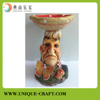 China supplier high quality resin crafts with LED light for interior decors