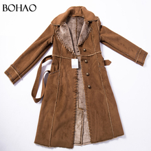 Long Waistcoat Autumn Winter Ladies Winter Trench Fur Coat For Women