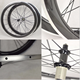 700C 50mm deep carbon alloy wheels clincher with alloy breaking surface