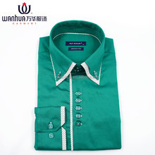 Men casual shirts cotton fabric welcomed men chinese collar shirts