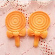 Big Kawaii Lollipop Baked Biscuit Cabochons