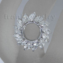Top Quality 2.79ct Natural Diamond Engagement Ring Semi Mount 18k White Gold Fine Wholesale Jewelry Set