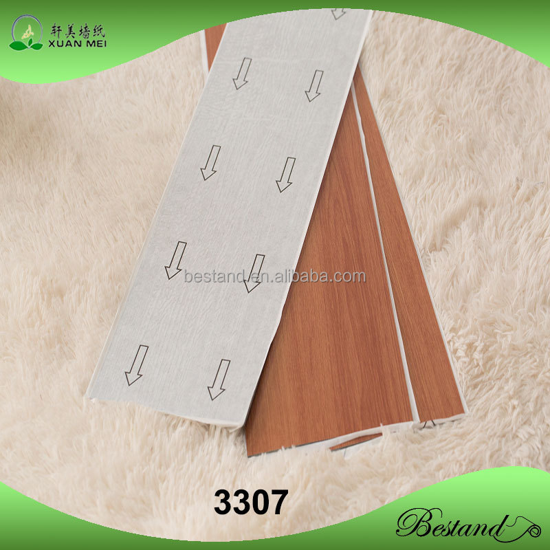 Convenient No glue self adhesive PVC vinyl wood flooring
