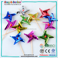 High quality wholesale toy cupcake toothpick decorations paper windmill for sale