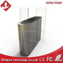 Factory Price Full Height Automatic RFID flap barrier/ flap turnstile/Flap Gate