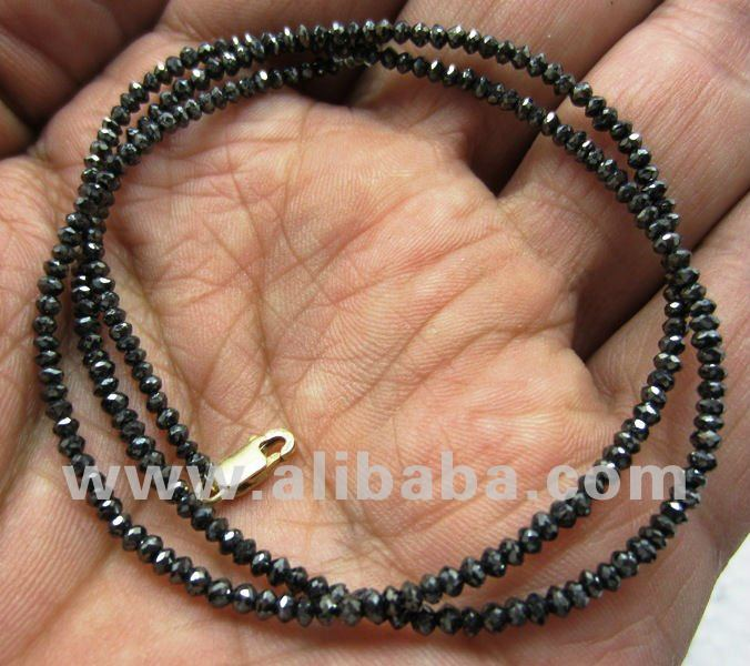 NATURAL BLACK DIAMONDS NECKLACE REAL GENUINE DIAMOND