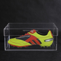 new clear acrylic shoes box for display nike shoe