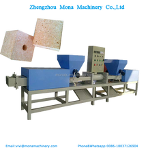 Double head wood block making machine/sawdust pallet block extruder/wooden pallet block making machine