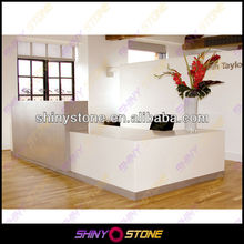 Contemporary L-shaped commercial office Acrylic Solid Surface different type of table service