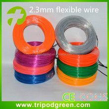 100m 2.3mm el wire,high brightness el wire ,10 color for select