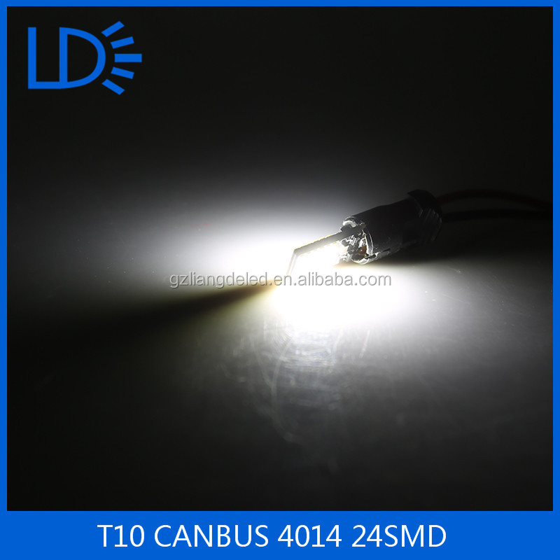 DC12V 4014SMD 24 LED T10 Canbus Auto Lamp Clearance Width Emergency Lamps For Toyota Honda BMW Hyundai