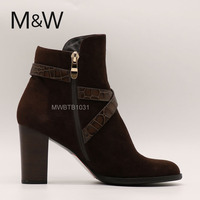 Women classic genuine leather sheepskin boot with soft sole