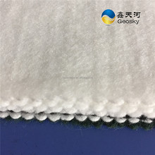 recycled material 100gsm PET geotextile for road pavement