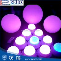 RGBW color changing remote controlled battery operated led light for event decoration