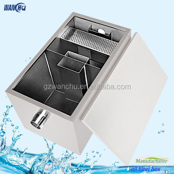 Kitchen Grease Trap Seperator for Oil and Wastewater/Stainless Steel Kitchen Oil Grease Trap Interceptor/Removes Fat Oil Skimmer