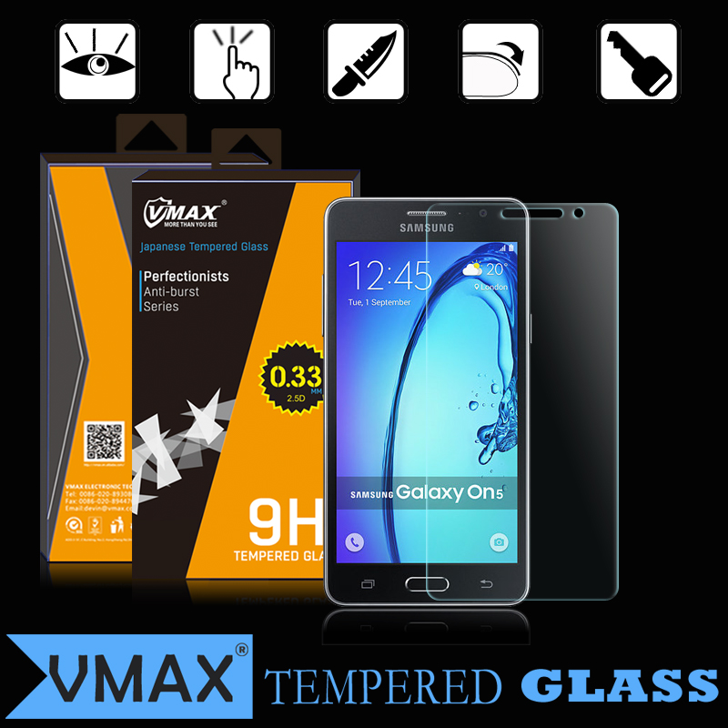Free Sample ! Factory Supply Premium Japanese Asahi 9h tempered glass screen guard for Samsung Galaxy on5 screen protector
