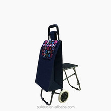 high quality shopping trolley bag with chair