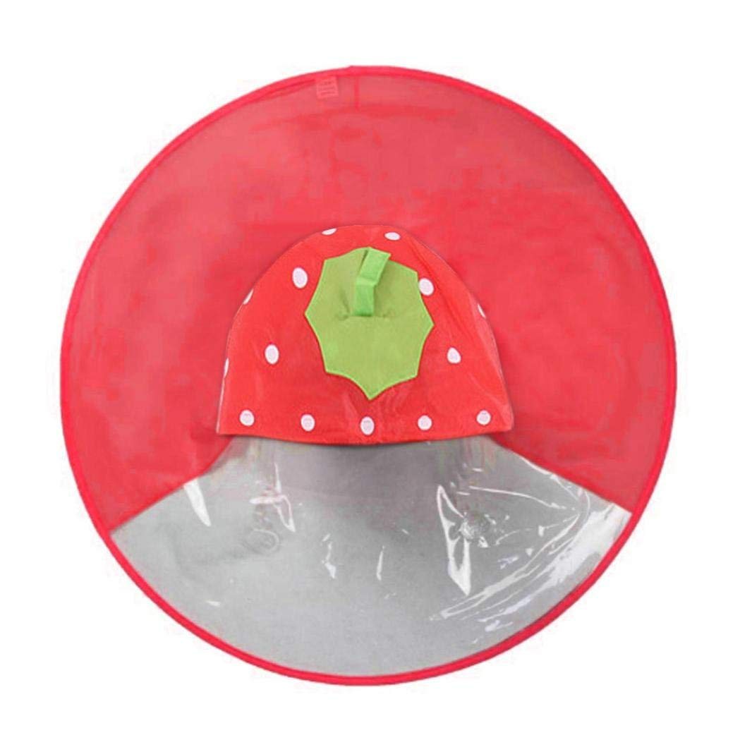 OEM Cute UFO Shape Umbrella Hat Magical Hands Free Children Raincoat