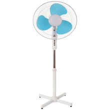"12V DC 16"" 18"" electric stand fan with X cross base"