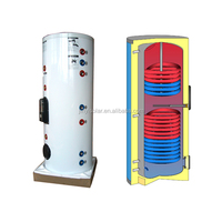 100,150,300,400,500,750,1000 L Split Stainless Steel Solar Boiler Water Tank with Double Coils