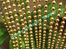 Luxurious Shimmer Gold Color Metal Bead Curtain