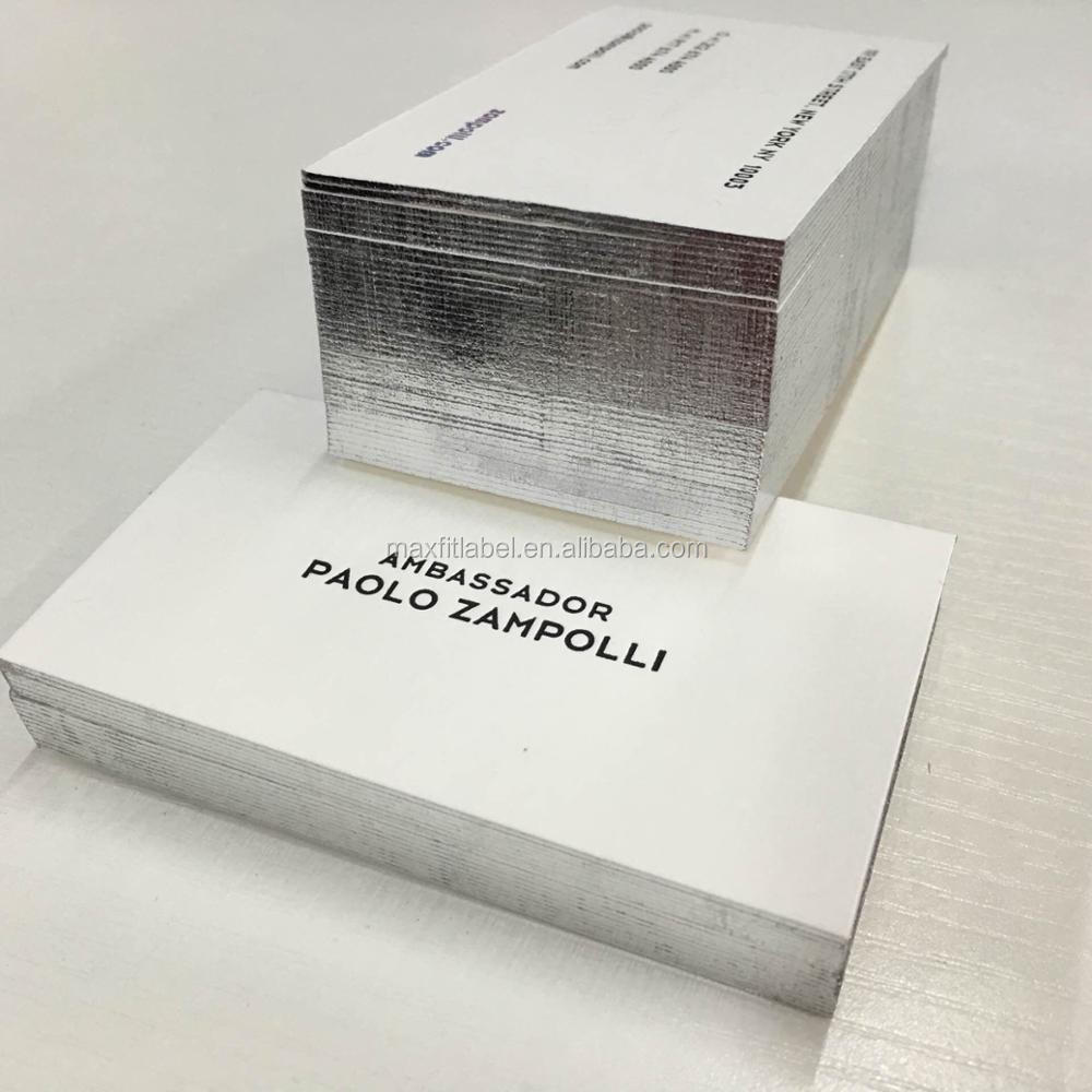 2017 hot sale Letterpress Embossing Business Card foil Printing