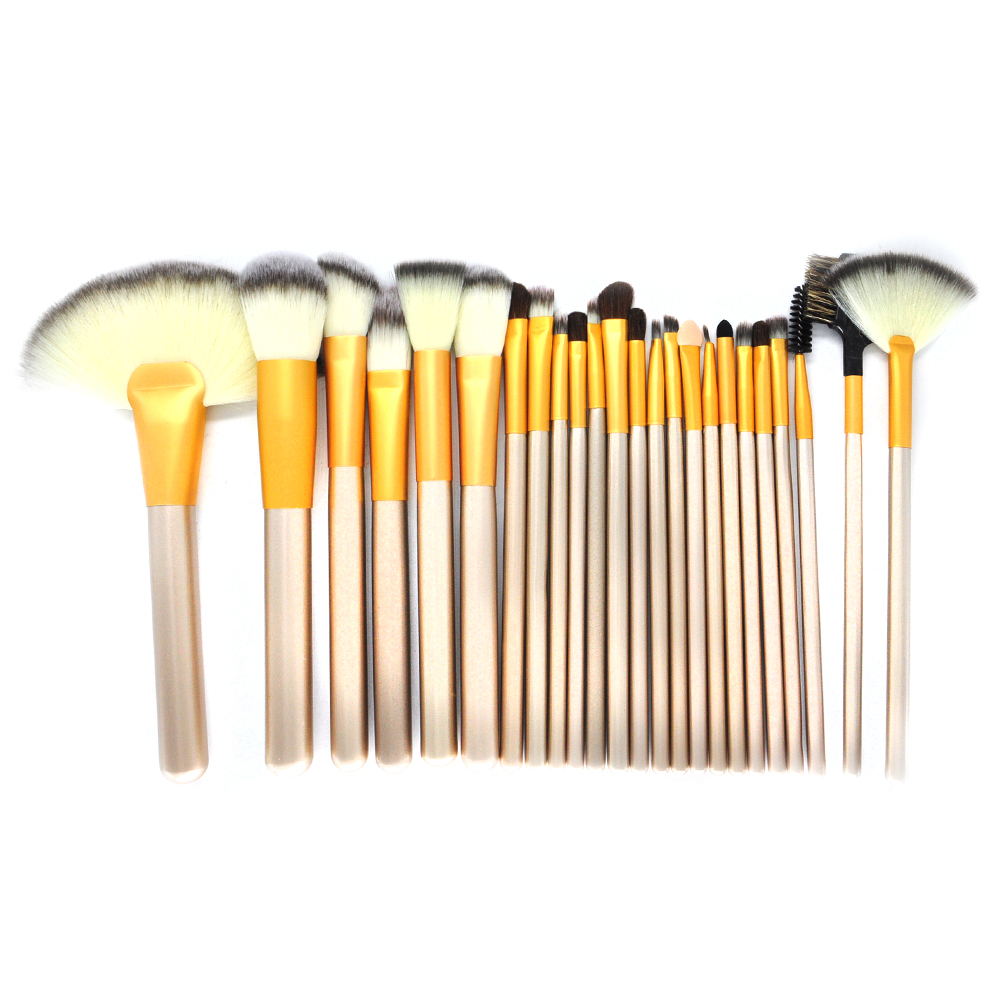 Wholesale Custom Logo Gold 24 Professional Makeup Brush Kit Set