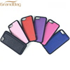 For iPhone 7 phone cases hot sale colorful saffiano high quality phone cover soft genuine leather case for i7 plus